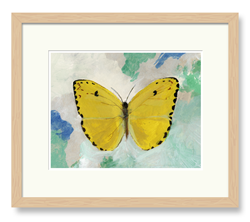 Butterflies Art Yellow