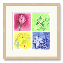 Embossed Flowers Art 1